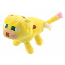 Peluche Ocelot El Leopardo De Minecraft Con Sonido! Toyland!