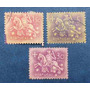 3 Estampillas Stamps Portugal 30 Ctvs 1.50 5 Esc Jinete