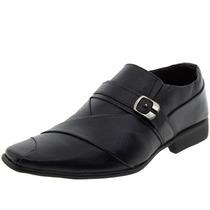 Sapato Masculino Social Com Fivela Preto Parthenon - Sr791