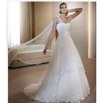 Vestido Novia Blanco Largo Fino Boda Noche Bodas Quinceaños
