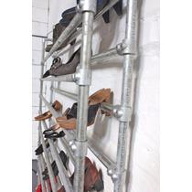 Zapatero Porta Zapatos Industrial Caño Hierro 90 Cm