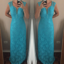 Vestido Longo Renda Tiffany Madrinha Formatura Mae De Noiva