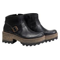 Botinetas Mujer Botas Borcego Zapatos Almacen De Cueros