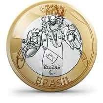 Moeda 1 Real Bimetálica Olimpíadas Paratriatlo Fc Rara