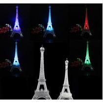 Centro De Mesa Torre Eiffel 25 Cm Luz Led Paris