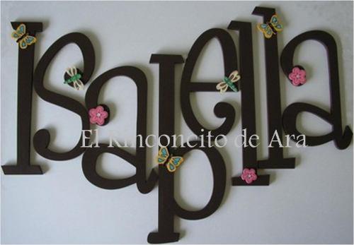 Hermosas Letras Para Decorar La Habitacion De Tu Bebe - $ 95.00 en ...