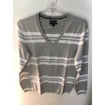 Malha Feminina Tommy Hilfiger Th Blusa Sweater V Pima Cotton