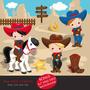 Kit Imprimible Pequeño Vaquero Nene 1 Imagenes Clipart