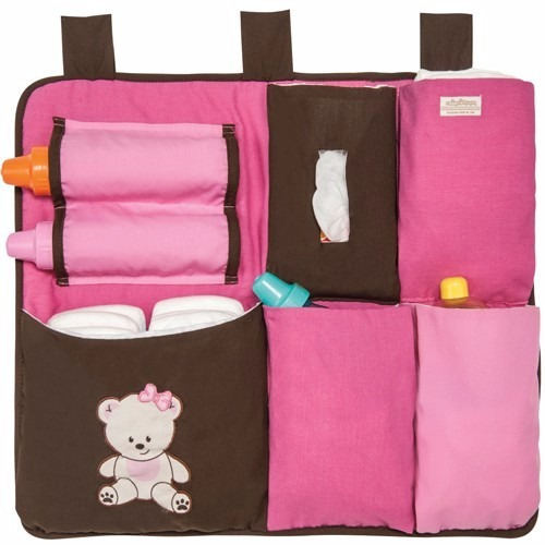Organizador para cuna de bebe pa ales biberon baby pink en mercado libre - Organizador de cuna ...