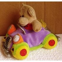 Macaco No Carrinho Brinquedo Antigo Pelúcia Imp .(24)
