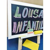 Lousa Infantil- C/tripé, Apagador+gíz Color - Frete Grátis -