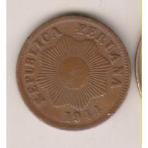 B27 - 1 Centavo Moeda Do Peru De 1944 R$ 10,00