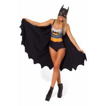 Fantasia Feminina Super Herói Batman Batgirl Carnaval!!!