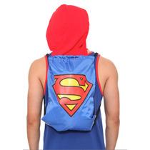 Hot Topic Mochila Dc Comics Superman Hooded Cinch Back Sack