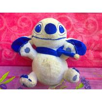 Stitch De Peluche Color Blanco Con Azul
