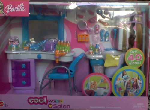 Salon de belleza muebles y muchos accesorios para barbie for Muebles para barbie