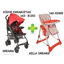 Coche Paraguitas + Silla De Comer Dreams Trotylkids Minor.