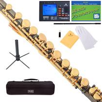Flauta Transversal Negra Orificios Cerrados Vv4