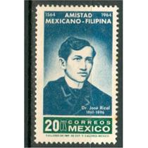 Sc 956 Año 1964 Dr. Jose Rizal Amistad Mexicano Filipina