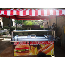 Carro Hot Dogs Carros Hot Dog Carreta Puesto Hotdogs Acero