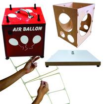 4 Kits Tela, 2 Bases Suporte, 1 Medidor, 1 Inflador De Balão