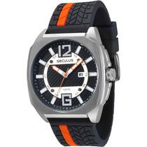 Relógio Masculino Seculus Analógico Com Calendário 23438g0sv