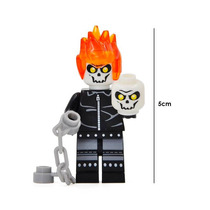 Ghost Rider Marvel Figura Compatible Lego Armar Fantasma