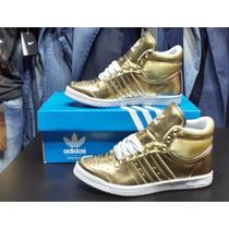 Adidas Sleek Series Gold Women Ultimo Par Talle 35