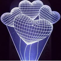 Luminária De Tomada 3d Balões De Festa Em Forma De Coração