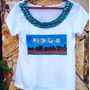 Tshirt Lollapalooza Pedraria Bordada Customizada Camiseta