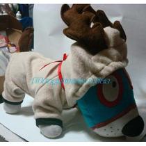 Disfraz Reno Con Cuernos Talla Cinco Para Perros Navidad