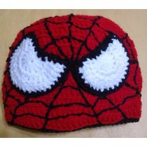 Gorro Tejido Al Crochet Spiderman