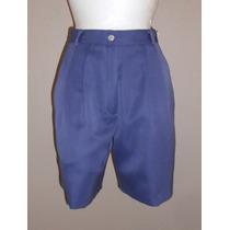 Eastbrook!!! Linda Bermuda Color Azul Morado, Talla 8 Petite