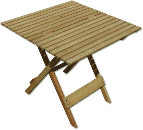 Mesa de jard n mueble plegable madera jardin o interiores - Mesa de jardin ...