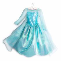 Vestido Disfraz Frozen Elsa Deluxe Disney Store Usa Original