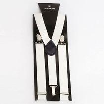 Tirantes Blancos Con Broche De Metal Para Pantalon