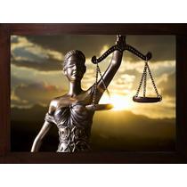 Quadro Deusa Da Justiça Escritório Advocacia Com Moldura