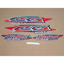 Kit Jogo Adesivo Faixas Honda Cg Titan 95/96/97/98/99/00