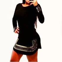Vestido Pedra Pedraria Chique Instagram Panicat Curto Moda