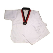 Dobok Blanco Champion Cuello Poom - Uniforme Tae Kwon Do