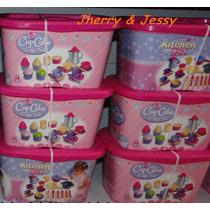 Kit Cup Cake Bule Chicara Brinquedo Infantil Para Casinha