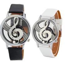 Reloj Remate Unisex Clave De Sol Dama Hombre Musica Piano