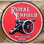Placa Motocicleta Royal Enfield Metal