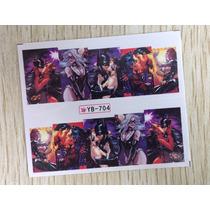 Exclusivos Stickers De Uñas Completas Al Agua Batman