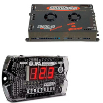 Som Automotivo Soundigital 800w Rms 4 Ch+ Voltimetro Digital