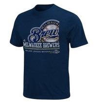 Franela Mlb Majestic Milwaukee Brewers Importada Original