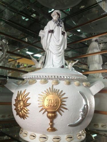 Sopera Con Figura De Orisha Obatala - $ 1,950.00 en