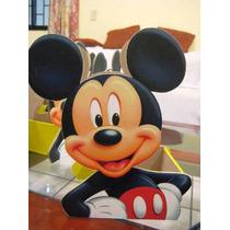 Centro De Mesa Mickey Mouse De Madera Mdf Para Cumpleaños