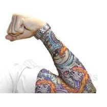 Remate Lote Surtido 6 Par De Mangas Tatuajes Tatoo Moda In