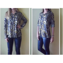 Camisa Blusa Camisola Estampada - Últimas Disponibles!!